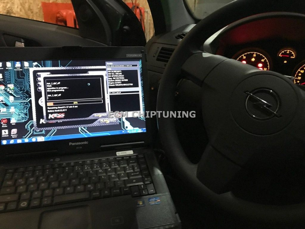 Opel Astra H удаление катализатора