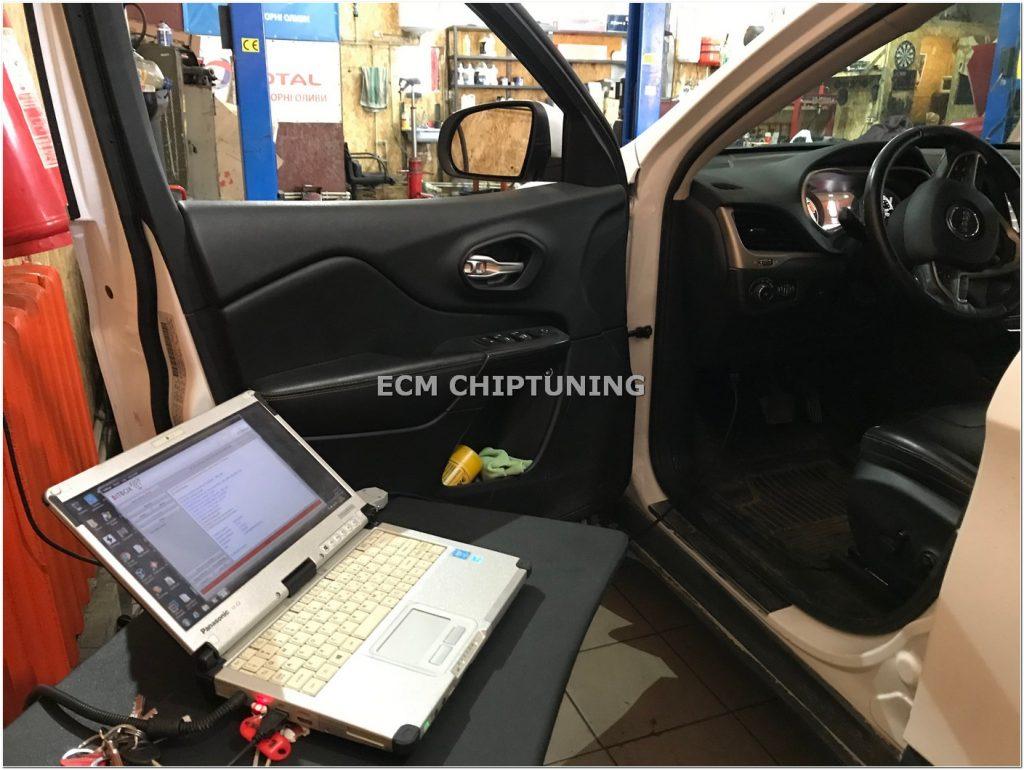 Jeep Cherokee чип-тюнинг увеличение мощности отключение удаление катализатора
