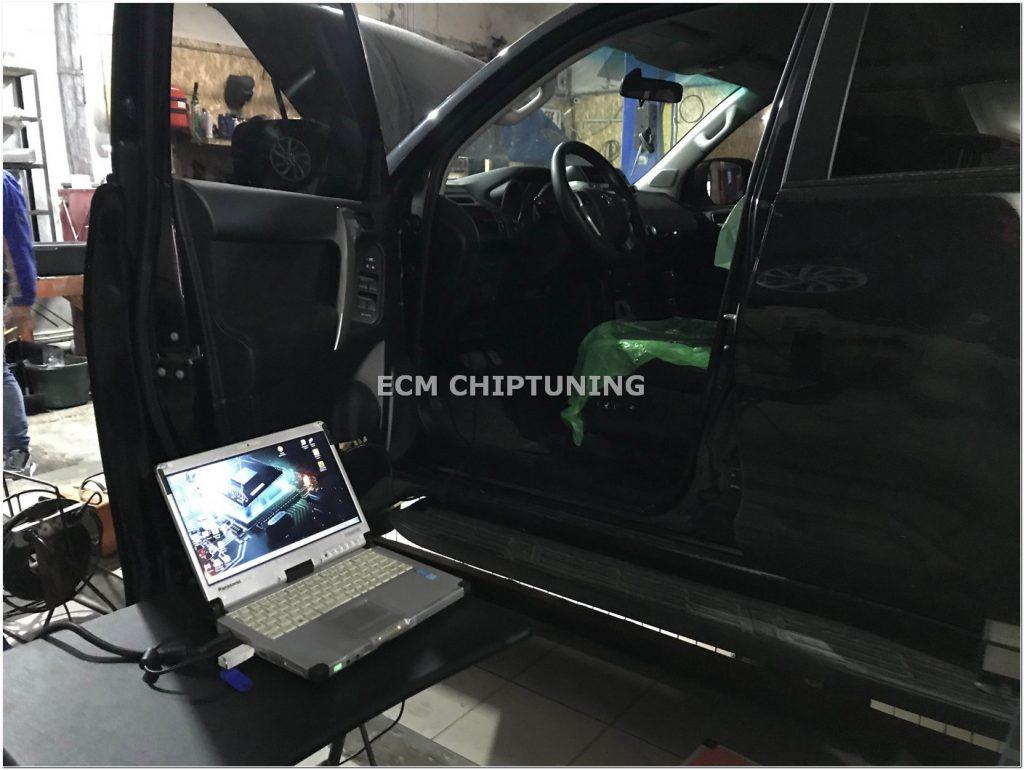 Toyota Prado 150 2.8D удаление отключение катализатора чип-тюнинг