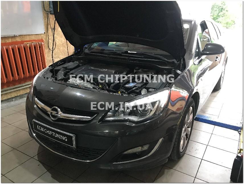 чип-тюнинг Opel Astra J 2.0 удаление отключение катализатора сажевого фильтра в Днепре