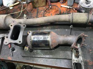 Honda Acord 2,4 удаление отключение катализатора